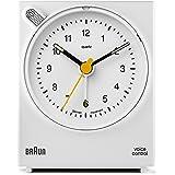 Braun BNC004WHWH Classic Analog Quartz Alarm Clock