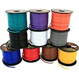 GS Power's 16 Gauge, 10 Rolls of 100 Feet (total of 1000 ft) Car Audio Video Primary Remote Turn on Hook up Trailer Wire (Cable Color Set: Black Red Blue Green Brown Orange Grey Purple White Yellow)