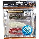 Savage Gear LRF Ragworm Set - 18 Gummifische 7cm + 2 Jighaken 1,5g, Angelköder, Gummiwürmer, Jigköpfe, Angelköder für Forellen, Barsch, Zander, Hecht, Microköder, Miniköder