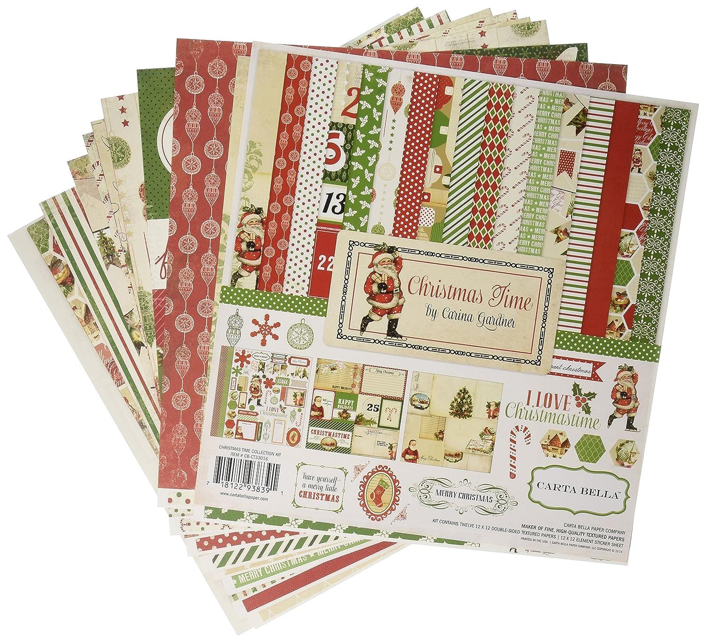 Scrapbook paper companies - Amazon Com Carta Bella Paper Company Christmas Time Collection Scrapbooking Kit