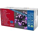 Konstsmide 3691-457 Guirlande Cabochon Globe + 80 Micro LED Violettes + Câble Noir 24 V