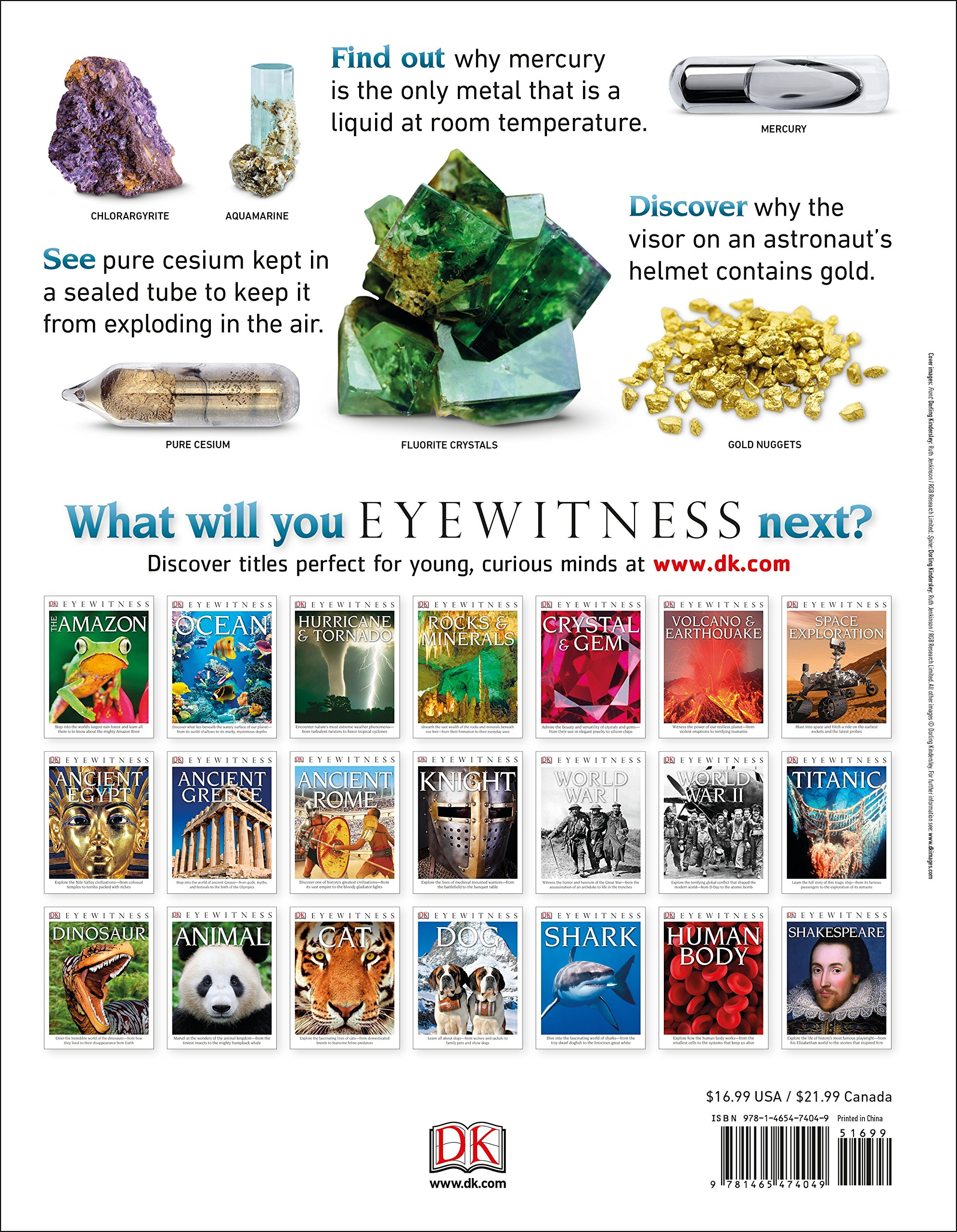DK Eyewitness Books: The Elements: DK: 9781465474049: Amazon