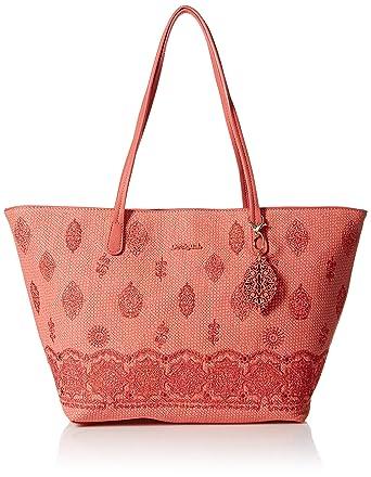 Rosa Zipper Plateado Paola Desigual Capri Shoulder Bag TKF1lJc