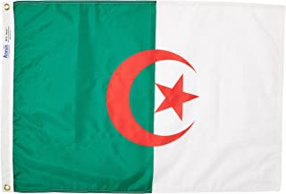 product image for Annin Flagmakers Model 190251 Algeria Flag Nylon SolarGuard NYL-Glo, 2x3 ft, 100% Made in USA to Official United Nations Design Specifications
