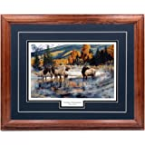 """Andrew Kiss /""""Out of the Mist /"""" Elk Autumn  Art Print 12/"""" x 8/"""""""