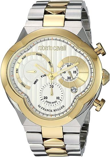 0d15c2d8f930 Roberto Cavalli by Franck Muller Men s  CLOVER  Quartz Stainless Steel  Casual Watch