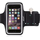 iPhone 7 Armband,by Ailun,Feartured with Sport Scratch-Resistant Material,Slim Light Weight,Dual Arm-Size Slots,Sweat Resistant&Key Pocket,with Headphone Ports[Black]