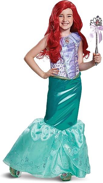 Disfraz de Ariel de la Sirenita para niños pequeños, Verde Azulado ...