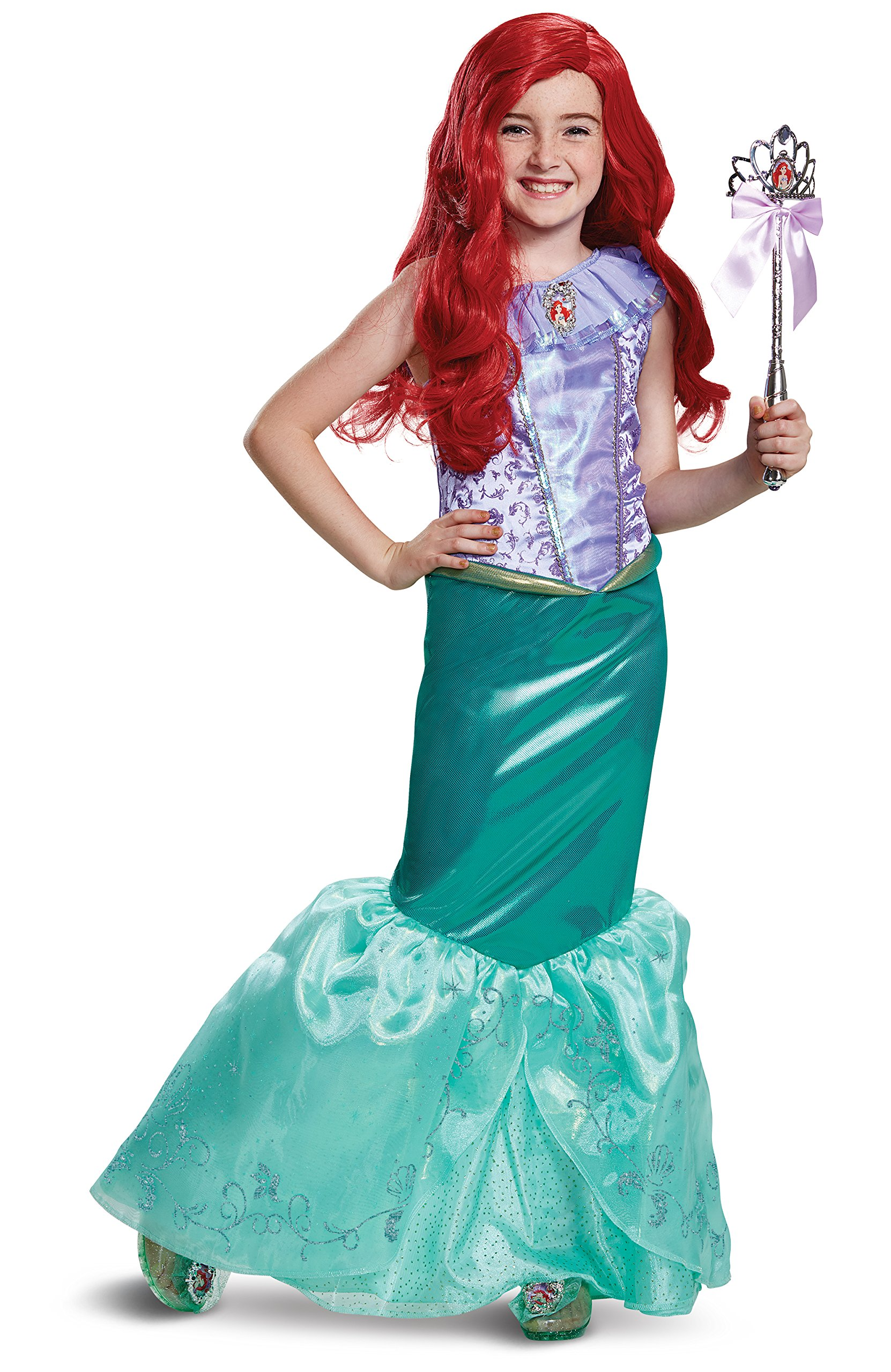 Disguise Ariel Deluxe Child Costume, Teal, Size/(4-6x)