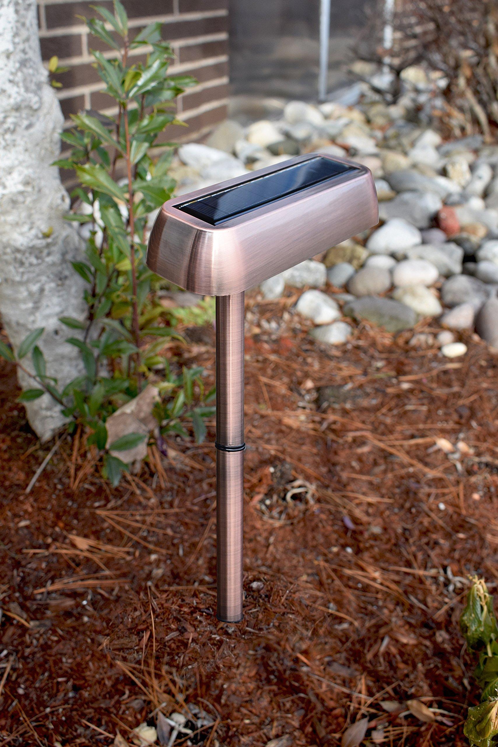 EcoThink - SOLAR POWERED Multipurpose Light - 3 usage types; Gutter, Stake and Mount,110 Lumen Light output