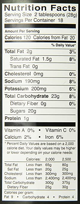 Chinese Restaurant Food Nutritional Information