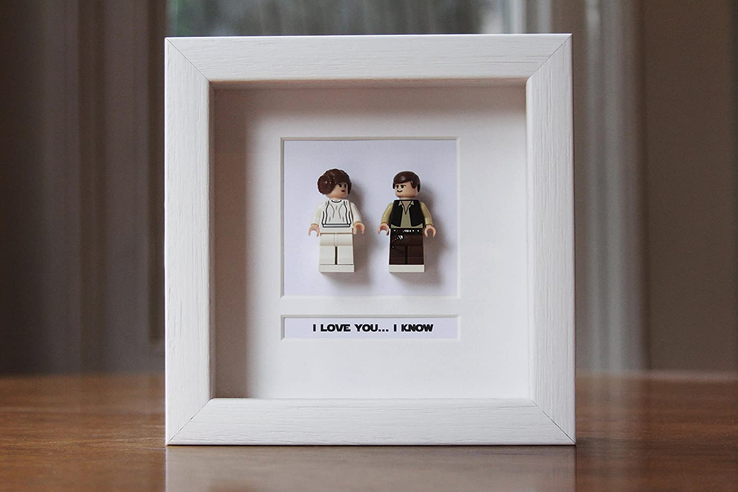 Star Wars Framed Mini Figures Han Leia Made From Lego Amazon