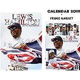 Lewis Hamilton Calendar 2019 + Lewis Hamilton Fridge Magnet