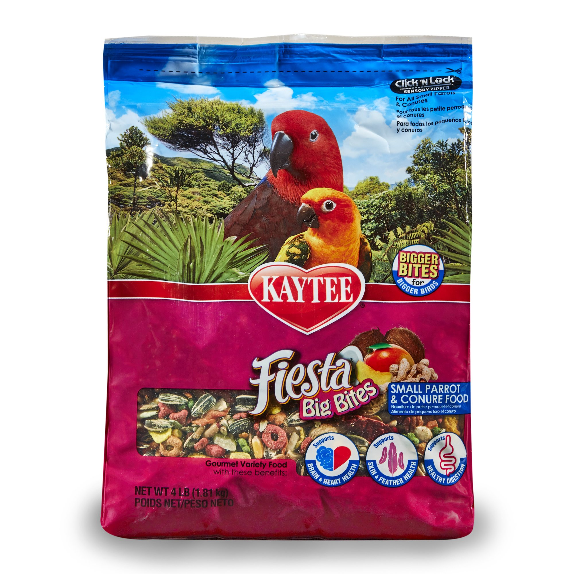 Kaytee Big Bites for Small Parrots and Conures, 4 Ib