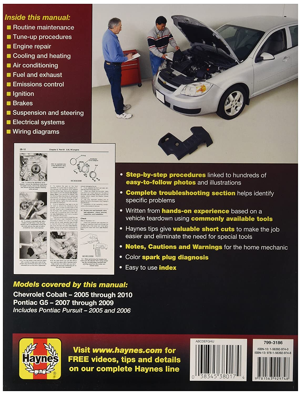 Chevrolet Cobalt Pontiac G5 Haynes Repair Manual 2005 Heating Wiring Diagram For 2006 Ls 2009 Automotive