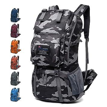 c3f544ea4c MOUNTAINTOP 40L Sac à Dos de randonée/Trekking/Camping/Voyage éthanche  (Camouflage