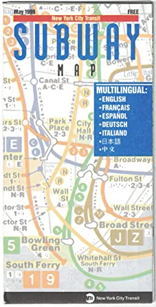Nyc Subway Map Scan.Amazon Com New York City Transit Subway Map May 1996 Entertainment