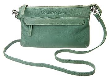 920b2717fe70a LORENZO CANA Marken Leder Damen Handtasche Umhängetasche Schultertasche  Tasche Clutch echtes Leder weiches Kalbsleder viele Fächer