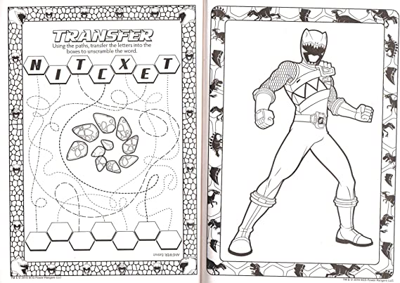 - Amazon.com: Power Rangers Dino Charge Jumbo Coloring & Activity Book - V2:  Toys & Games
