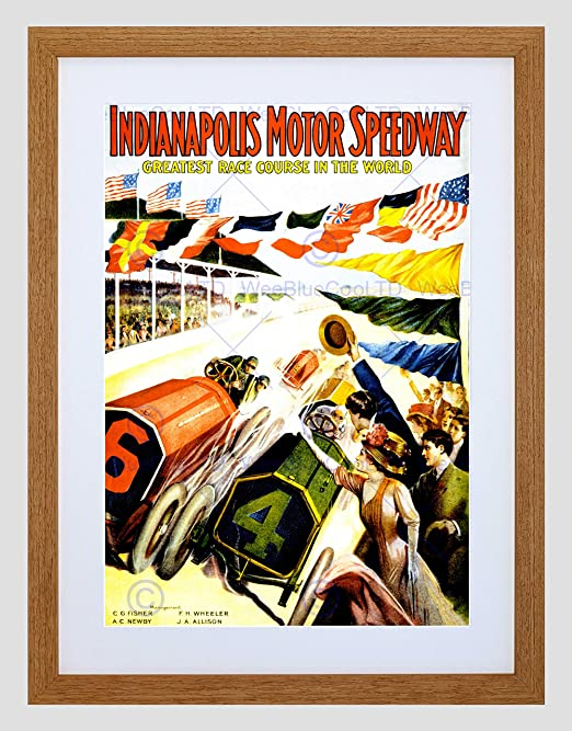"Historic Grand Prix-Indianapolis Motor Speedway 24/""x36/"" Canvas Racing Poster"