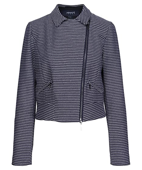 Armani Blu Jacket40Fantasia Short Jeans Women's Blouson BreWExQdCo