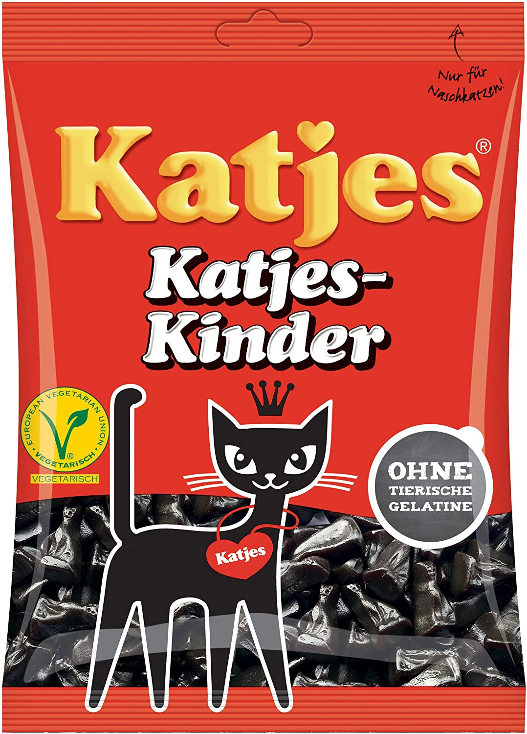 Katjes Kinder Licorice Cat-shaped Drops 200g Licorice Pieces ...
