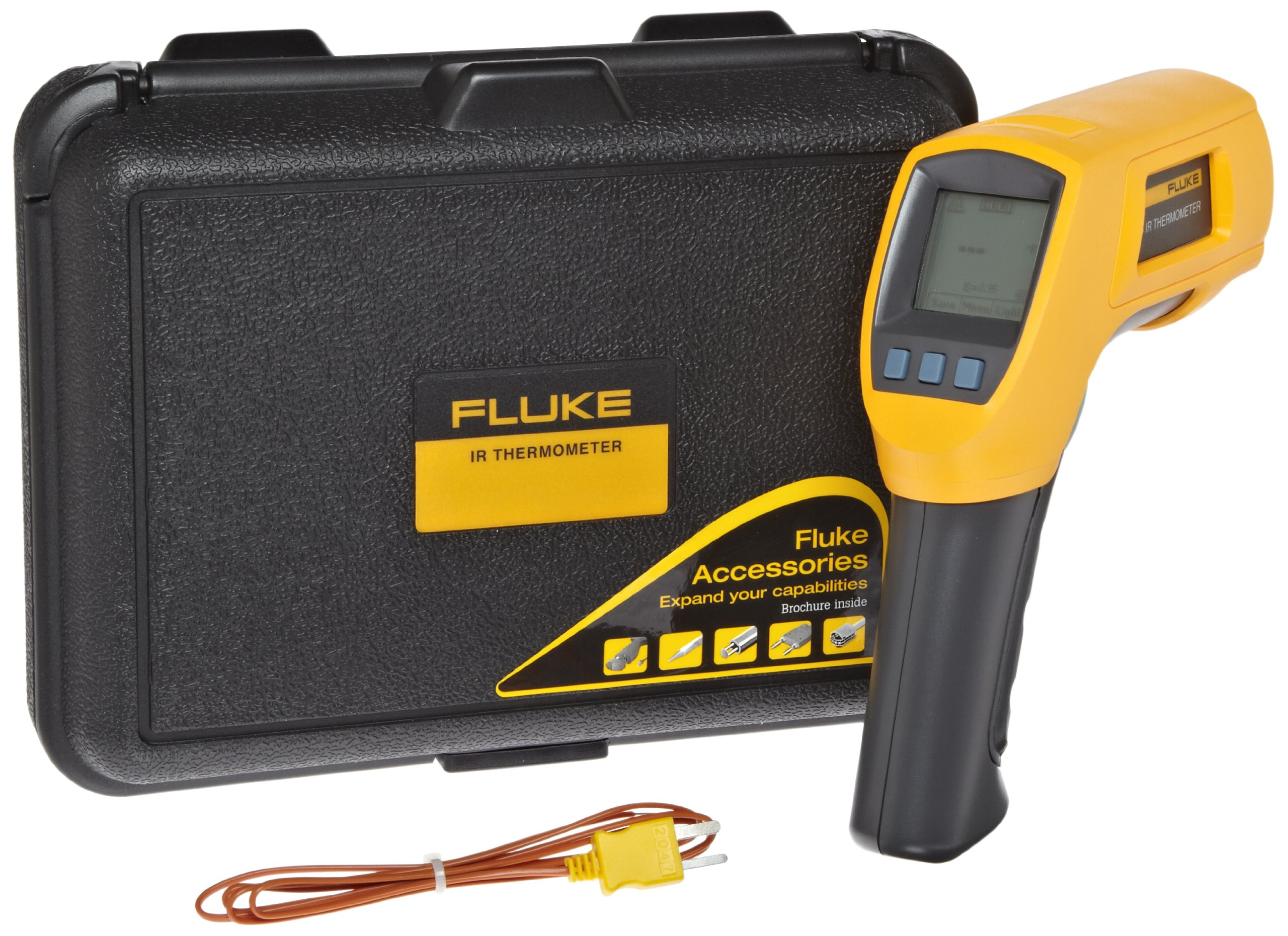Fluke 566  Dual Infrared Thermometer, -40 to +1202 Degree F Range, Contact/Non Contact by Fluke (Image #2)