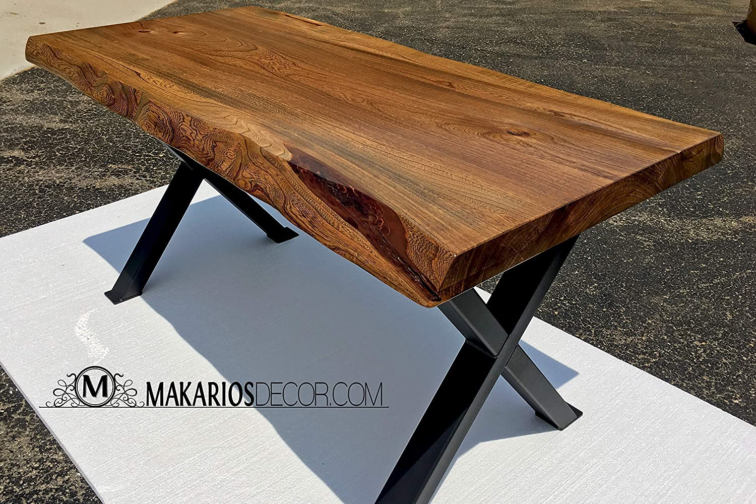 Amazon Com Wood Slab Dining Table Live Edge Slab Wood Slabs Modern Wood Slab Wood Slab Base Table Top Wood Table Top Desk Top Dining Table Top Tabletop Butcher Block Vanity Top Handmade