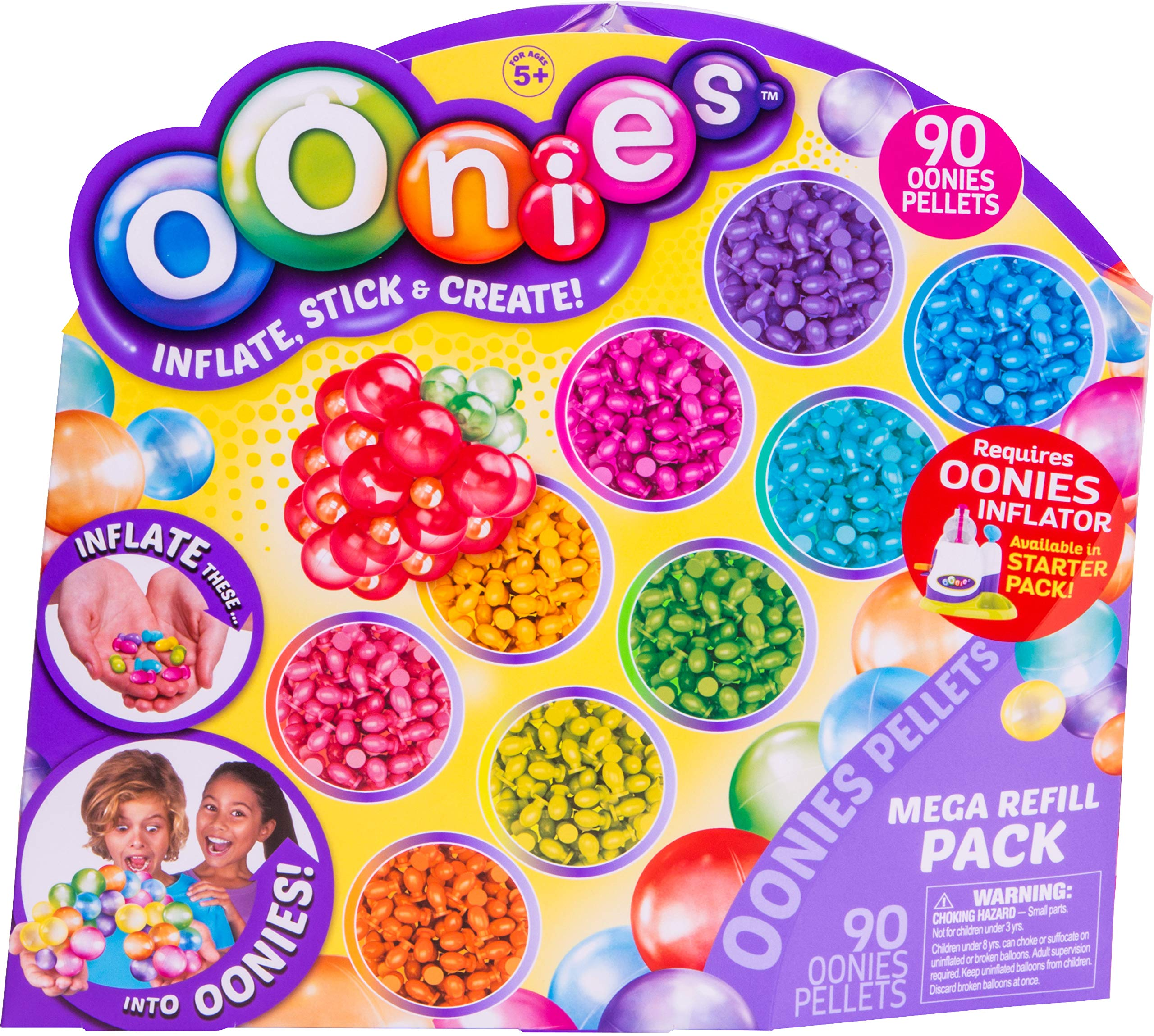 Oonies S1 Mega Refill Pack Multi Color, 0.87'' x 0.87'' x 0.2''