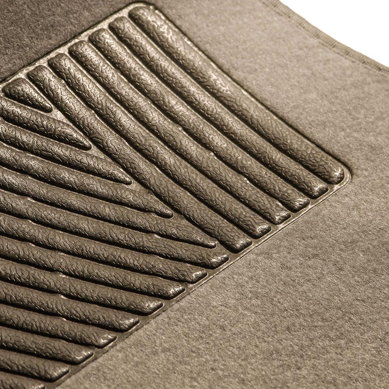 FH Group F14405BLACK Carpet Floor Mats with Driver Heel Pad-Black