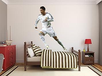 Amazon.com: Cristiano Ronaldo Wall Decal Real Madrid Football ...