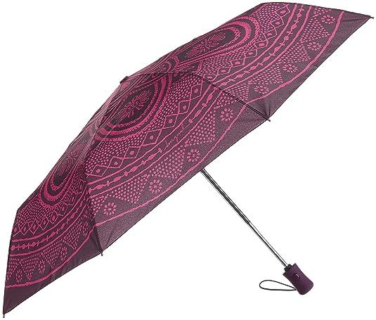 Desigual Umbrella Mandala Paragua plegable 28 cm: Amazon.es: Zapatos y complementos