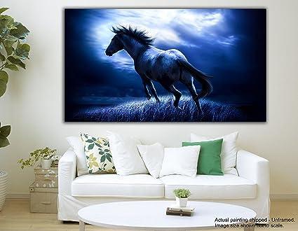 tamatina canvas paintings the night horse vastu canvas paintings