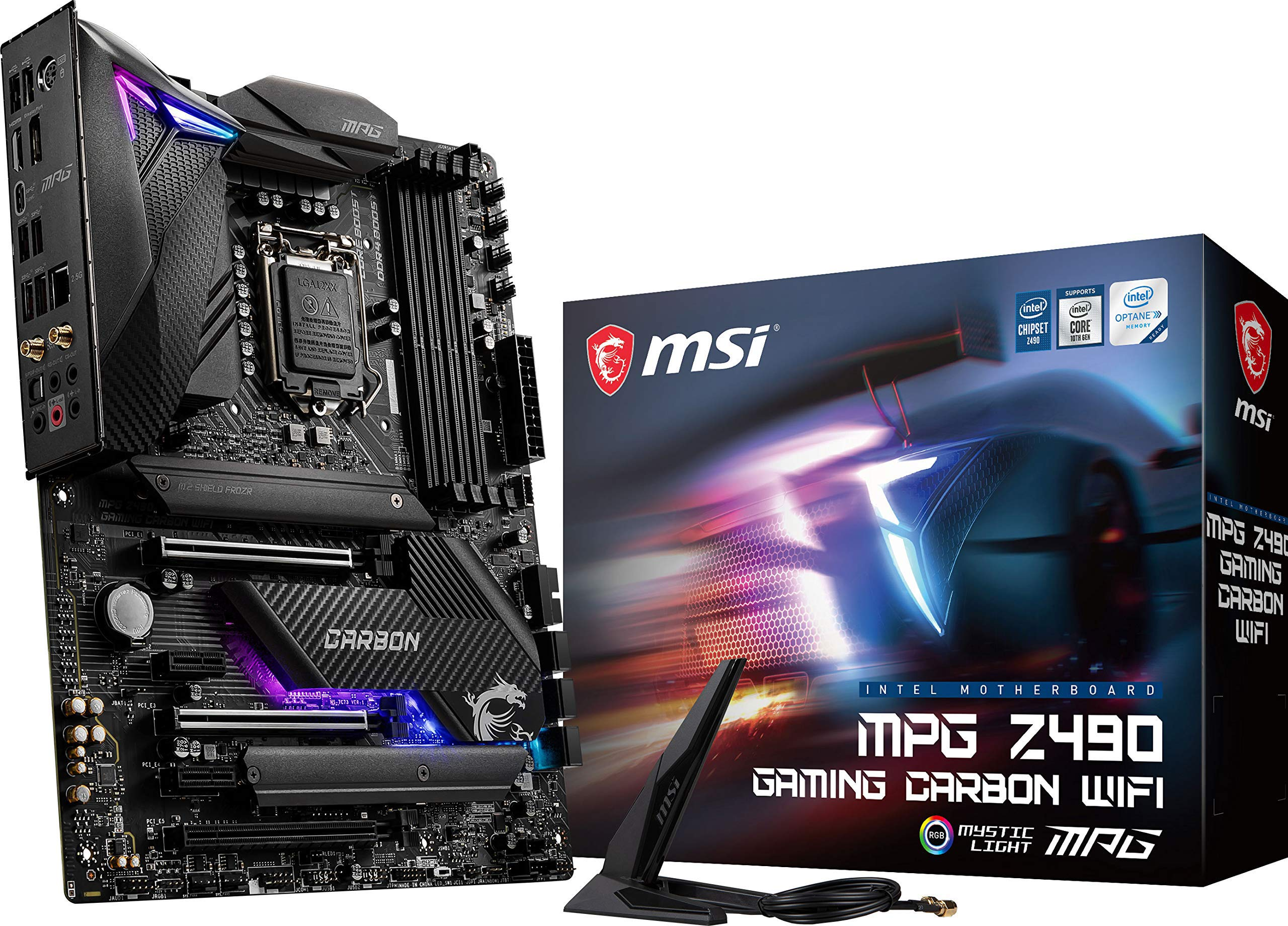 Motherboard MSI MPG Z490 Gaming Carbon WiFi Socket LGA1200