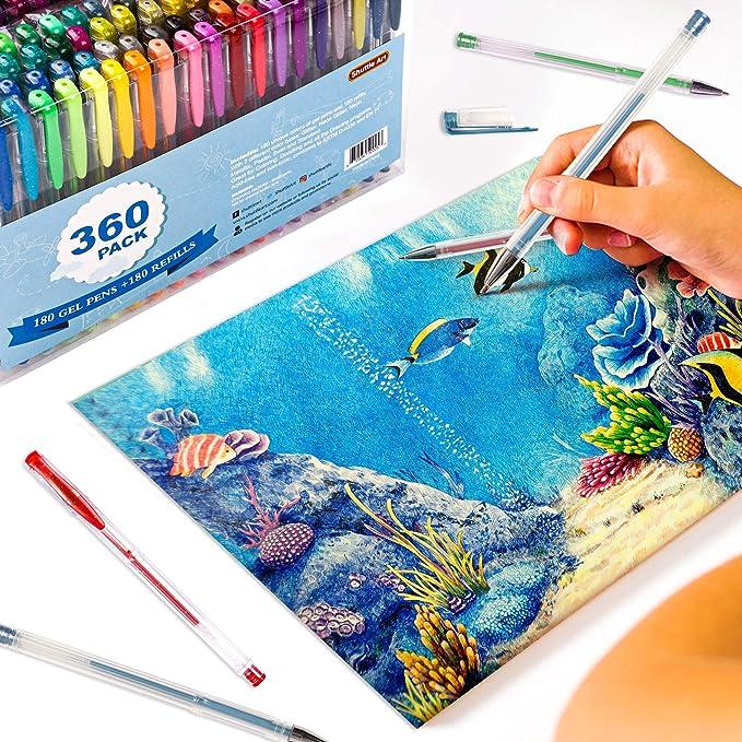 Shuttle Art - Pack 360 de bolígrafos de gel: Amazon.es: Juguetes y juegos