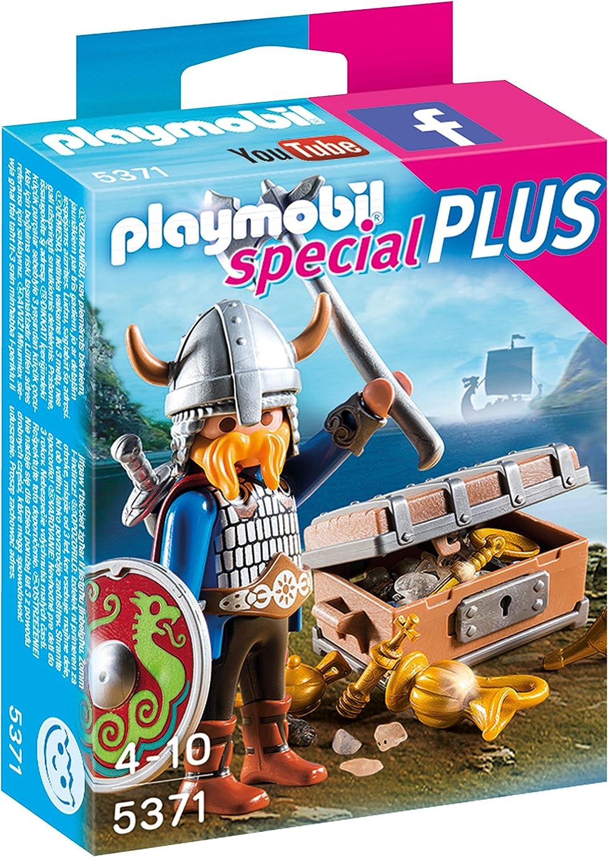 PLAYMOBIL with Treasure Especial Vikingo con Tesoro, Color, Miscelanea (5371)