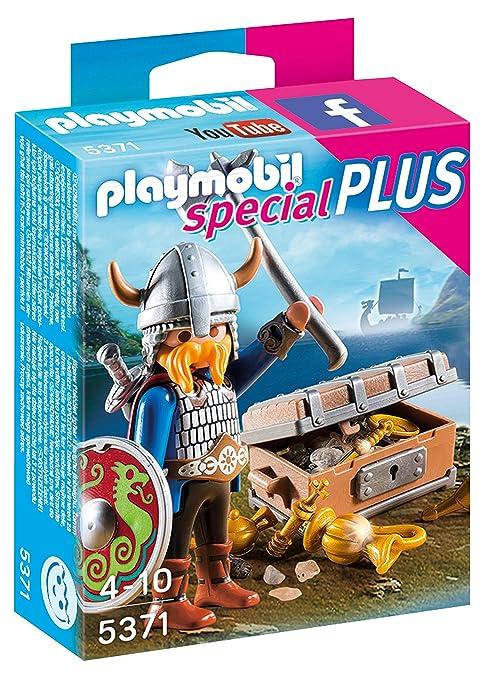 Playmobil- with Treasure Especial Vikingo con Tesoro, Color, Miscelanea (5371)