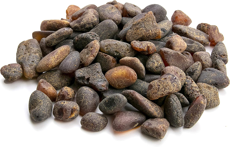 Piedras Redondas de ámbar báltico (50 Grados), Resina de ámbar báltico, Genuino y Natural. Random Lot NTSA50