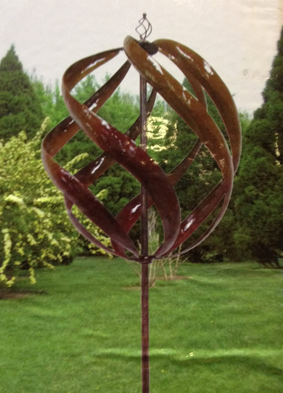 Amazon.com : Kinetic Wind Sculpture Helix Spinner Windmill : Garden ...