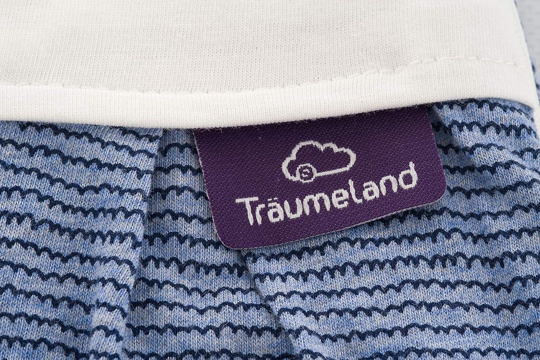 blau Design Wellenmeer Gr/ö/ße 44 Tr/äumeland S0103701 Ganzjahresschlafsack LIEBMICH mit doppelt regulierbarer Bel/üftung und Naturfaser Tencel