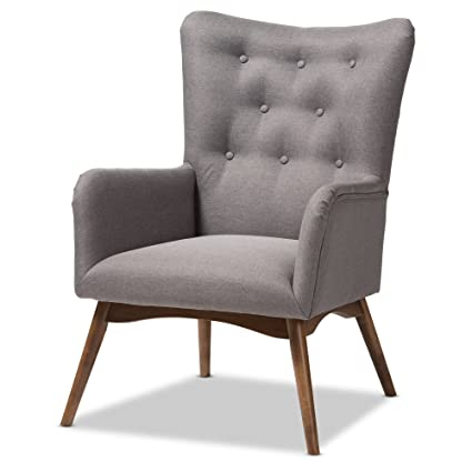 Miraculous Amazon Com Baxton Studio Mid Century Modern Upholstered Ibusinesslaw Wood Chair Design Ideas Ibusinesslaworg