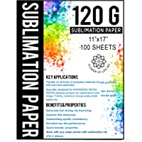 Sublimination Paper A3 Size 11x17 Inches - 100 Sheets - 120 gsm - Compatible with Any Inkjet Printer with Sublimation…