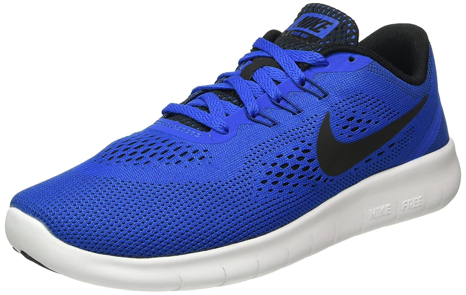 NIKE ' Free Rn (Big) B0189HEPME 7 Big Kid M|Game Royal/Black-white
