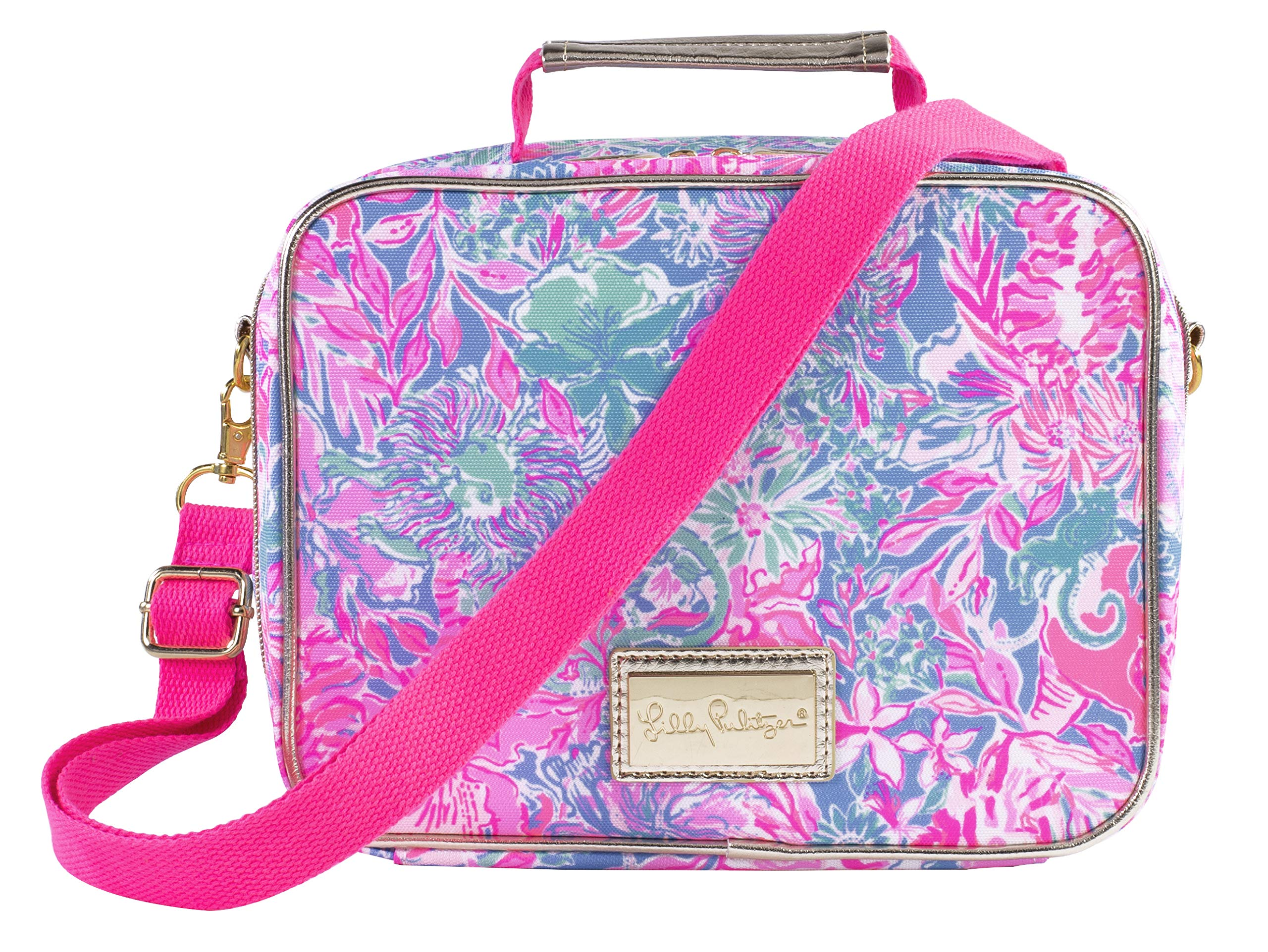 Lilly Pulitzer Thermal Insulated Lunch Bag with Adjustable/Removable Shoulder Strap, Viva La Lilly by Lilly Pulitzer