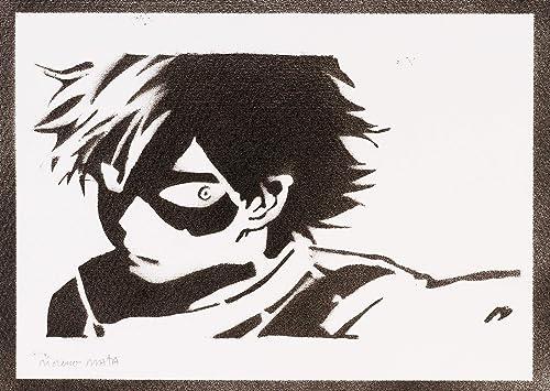 Póster Shoto Todoroki My Hero Academia Grafiti Hecho A Mano ...