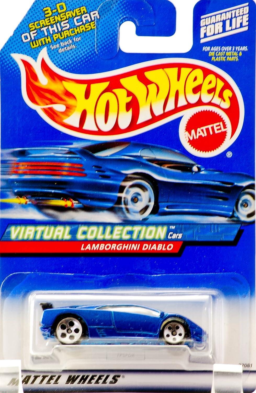 Hot Hot Hot Wheels Blau Lamborghini Diablo 2000 1:64 Scale Virtual Collection Die Cast Car  114 by Mattel (English Manual) 762f66