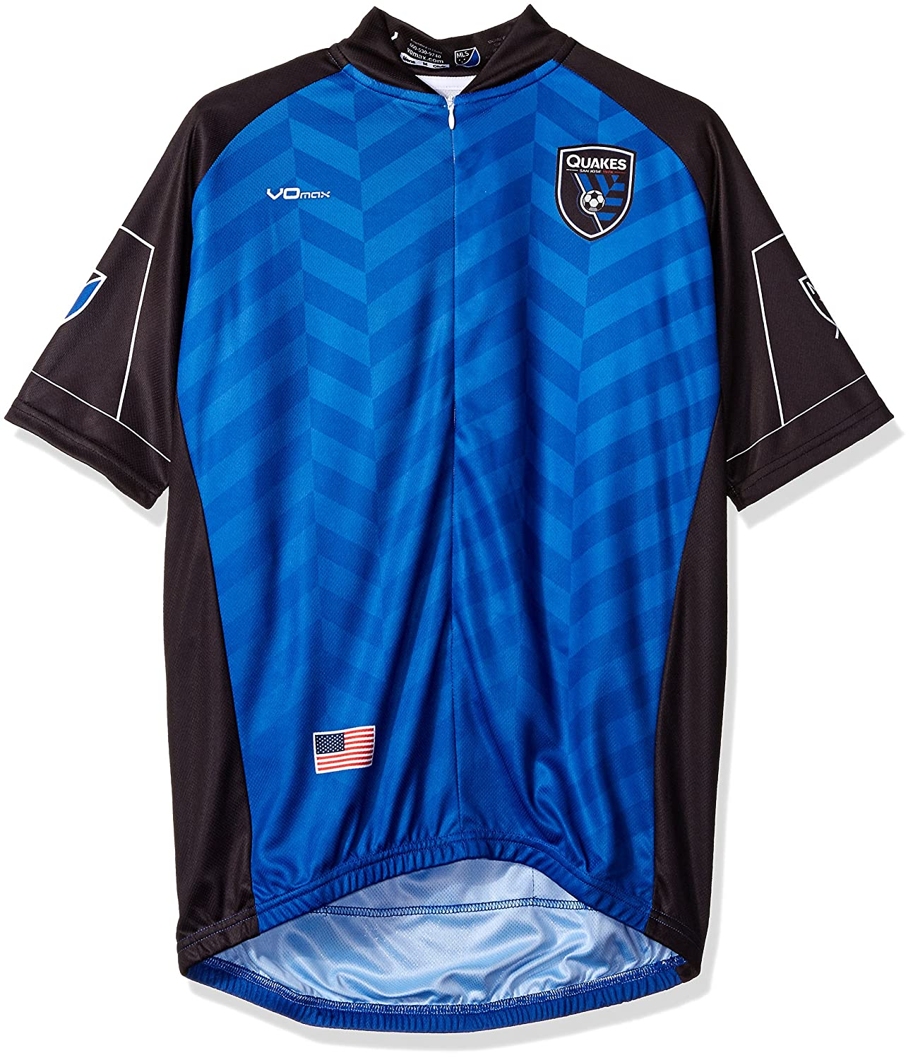 MLS Men 's Primary半袖サイクリングジャージー B017NPZ0QS Medium|ブルー|San Jose Earthquakes ブルー Medium