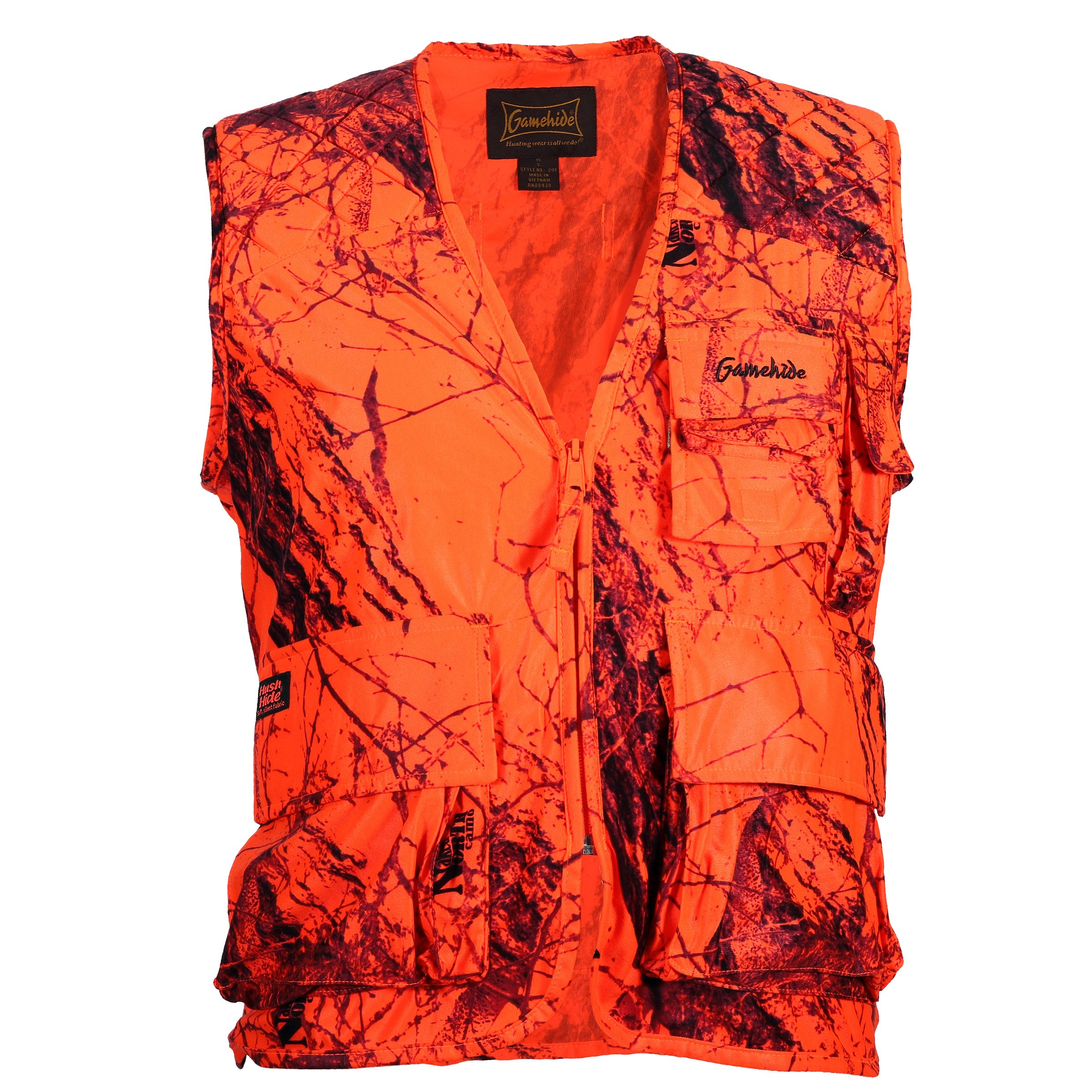 Gamehide Sneaker Big Game Vest Blaze Camo, 2X-Large by Gamehide