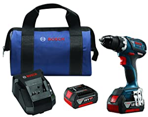 "Bosch DDS183-01 18V Lithium-Ion Brushless Compact Tough 1/2"" Drill/Driver Kit"