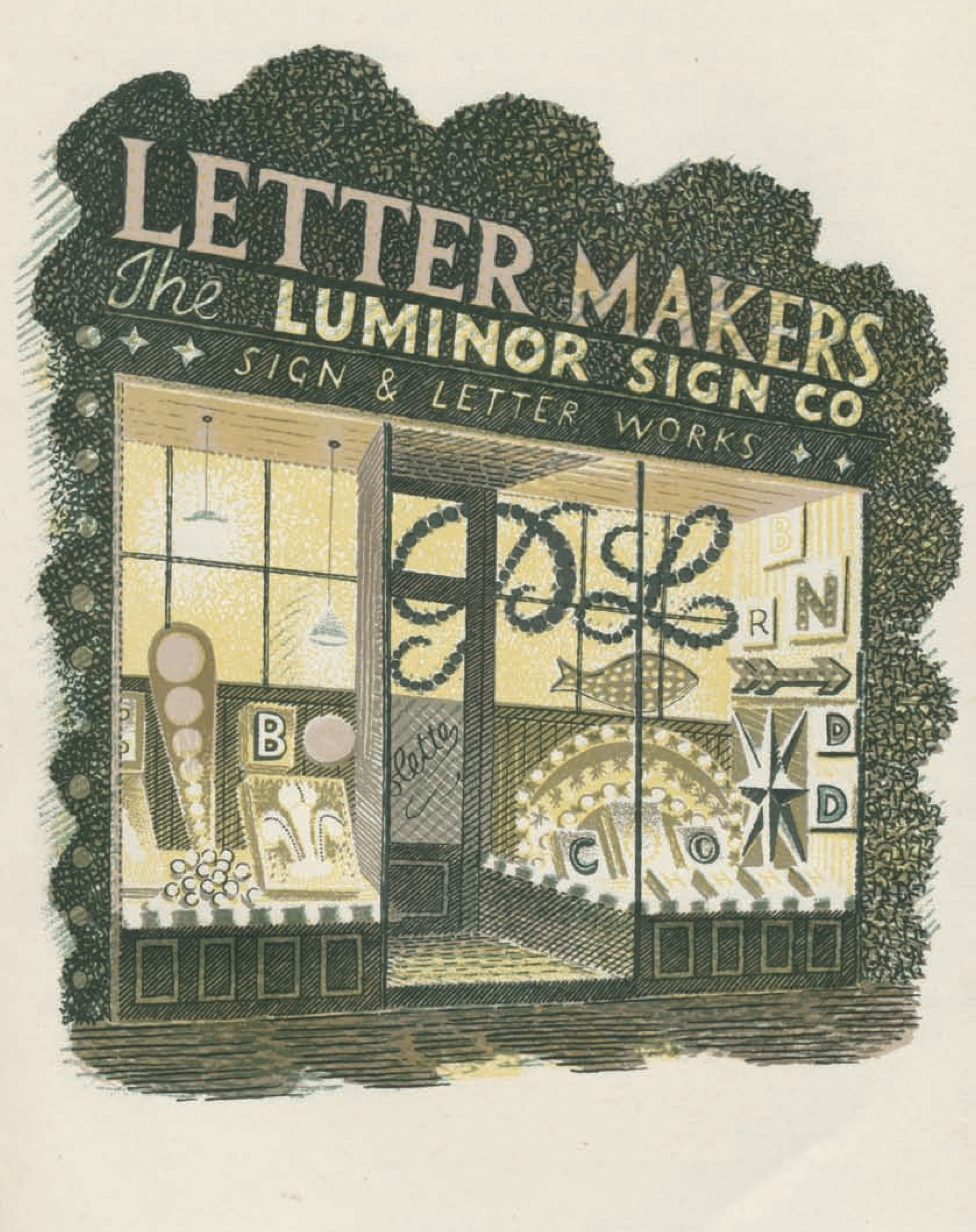 An illustration from High Street by Eric Ravilious and J.M. Richards